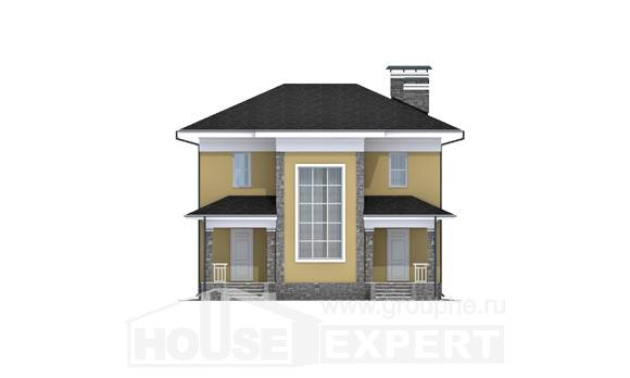 155-011-L Two Story House Plans, economical Villa Plan, House Expert