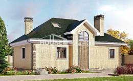150-013-L Two Story House Plans and mansard, the budget Cottages Plans,