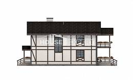 250-002-L Two Story House Plans with mansard roof with garage in front, modern House Plans,