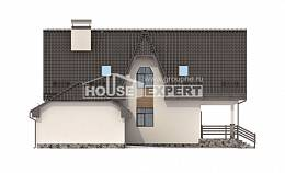 150-001-L Two Story House Plans and mansard with garage, economical Construction Plans,