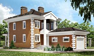 150-006-R Two Story House Plans with garage under, inexpensive Cottages Plans