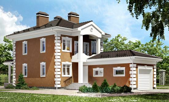 150-006-R Two Story House Plans with garage in front, compact Drawing House,