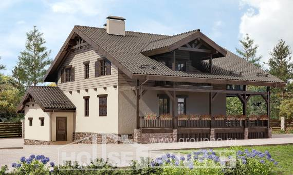 255-002-R Two Story House Plans and mansard with garage, classic House Planes,
