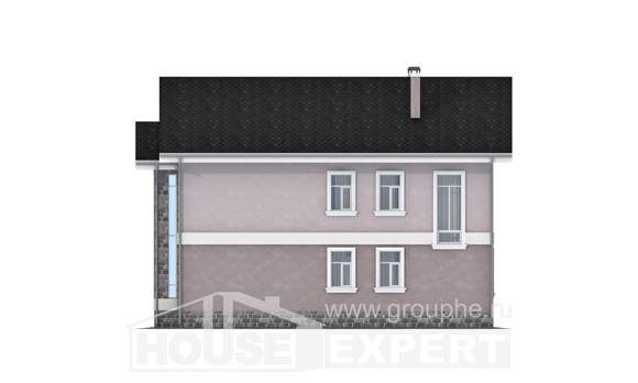 170-008-R Two Story House Plans, compact Woodhouses Plans,