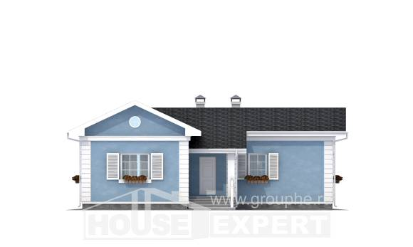 090-004-R One Story House Plans, compact Dream Plan,