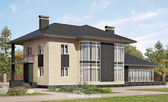 305-003-L Two Story House Plans, spacious Home House,