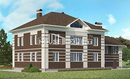 505-002-L Three Story House Plans with garage under, spacious Design Blueprints,