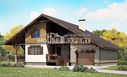 220-005-R Two Story House Plans and garage, average Models Plans,