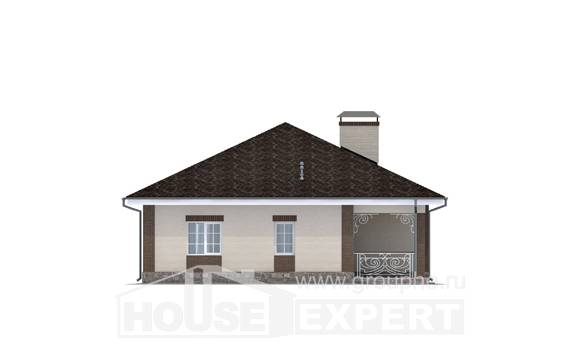 100-004-L One Story House Plans, inexpensive Building Plan