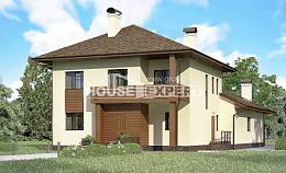 300-001-R Two Story House Plans, spacious Blueprints,