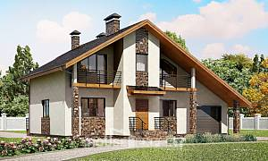 180-008-R Two Story House Plans with mansard roof with garage in back, average Online Floor