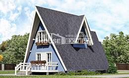 100-002-R Two Story House Plans with mansard roof, a simple Plans Free,