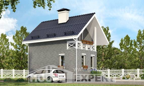 045-001-R Two Story House Plans with mansard, modern Plans Free,