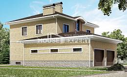 350-002-L Three Story House Plans with garage in back, classic Models Plans, House Expert