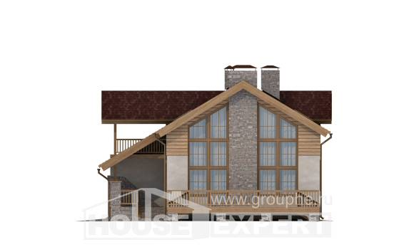 165-002-R Two Story House Plans and garage, the budget Models Plans,