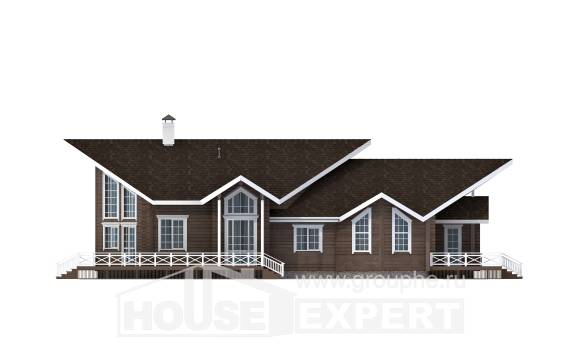 210-002-L Two Story House Plans and mansard, spacious Villa Plan,