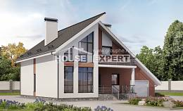 200-007-R Two Story House Plans with mansard roof with garage in front, spacious Dream Plan, House Expert