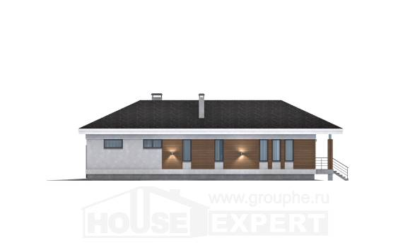 165-001-R One Story House Plans with garage in front, available Building Plan