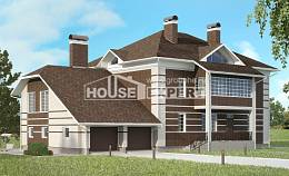 505-002-L Three Story House Plans with garage in back, classic House Planes,