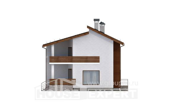 180-009-R Two Story House Plans with mansard roof, a simple Plans To Build,