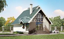 170-003-L Two Story House Plans and mansard, modern Timber Frame Houses Plans, House Expert
