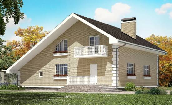 190-005-R Two Story House Plans with mansard with garage in back, a simple Plans To Build, House Expert