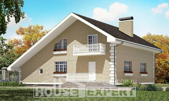 190-005-R Two Story House Plans and mansard with garage, luxury Architectural Plans,