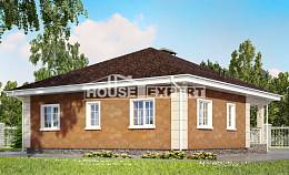 100-001-L One Story House Plans, modest Design House, House Expert