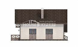 155-007-R Two Story House Plans with garage under, best house Construction Plans,