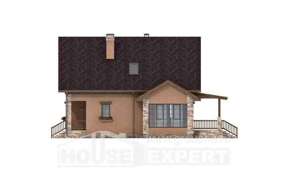 140-002-R Two Story House Plans and mansard, a simple Design House, House Expert