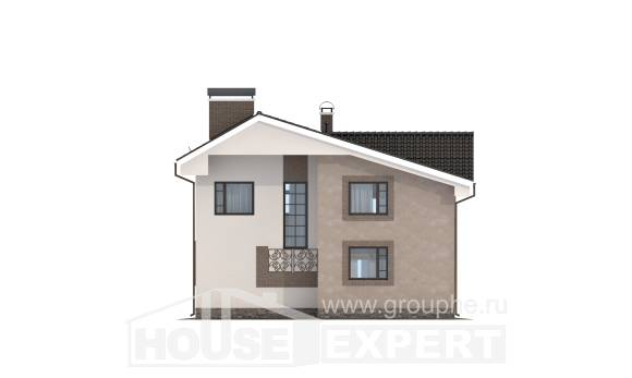 210-003-R Two Story House Plans with mansard roof, best house Architects House,