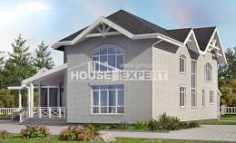 340-004-R Two Story House Plans, modern Design Blueprints,