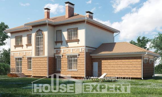 285-001-L Two Story House Plans with garage under, big Plans Free,