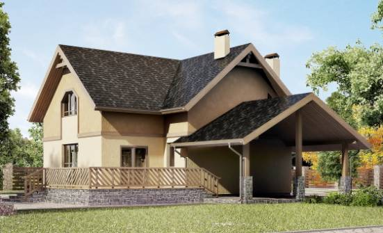 150-011-L Two Story House Plans and mansard with garage, available Planning And Design, House Expert