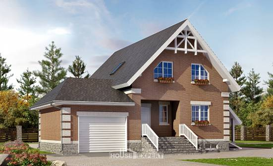 200-009-L Three Story House Plans and mansard and garage, cozy House Online, House Expert