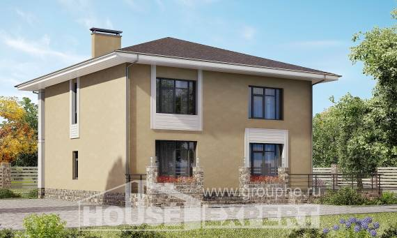 180-015-L Two Story House Plans, spacious House Blueprints,