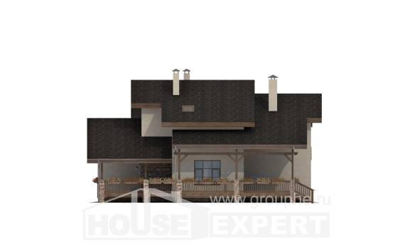 240-003-L Two Story House Plans with mansard roof, average Villa Plan,