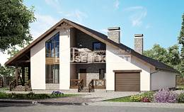 265-001-R Two Story House Plans and mansard with garage, beautiful Plans To Build