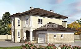 220-007-R Two Story House Plans with garage in front, beautiful Floor Plan