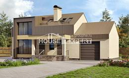 150-015-L Two Story House Plans with mansard roof and garage, small Ranch, House Expert