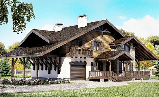 270-001-L Two Story House Plans with mansard and garage, best house Building Plan,