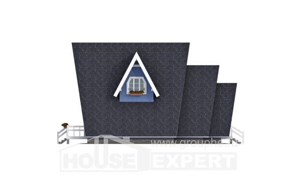 100-002-R Two Story House Plans with mansard, economical House Blueprints,