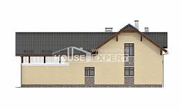 255-003-R Two Story House Plans and mansard with garage in back, cozy Ranch