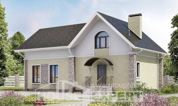 150-012-R Two Story House Plans and mansard, cozy House Blueprints,