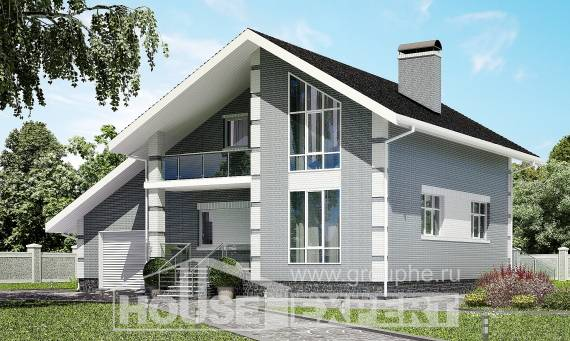 190-006-L Two Story House Plans with mansard with garage, best house Home House,