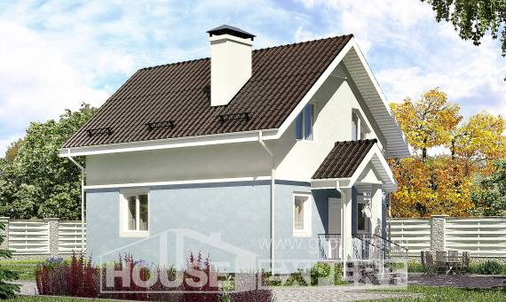 095-002-R Two Story House Plans with mansard, modest Architectural Plans,