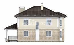 220-007-R Two Story House Plans with garage in back, classic House Plan