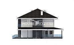 245-002-R Two Story House Plans with garage in front, cozy Custom Home Plans Online,
