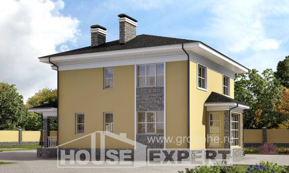 155-011-L Two Story House Plans, modern Blueprints, House Expert
