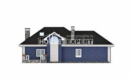 180-010-L Two Story House Plans with mansard with garage under, cozy House Building,